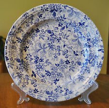 Superb Antique Blue & White Ironstone Transferware Plate Clementson Citron 9.5""