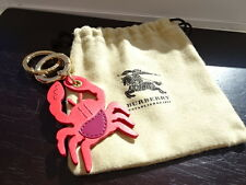 100% Authentic Burberry Red Leather Crab / Cancer Zodiac Bag Charm, Keyring