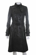 Burberry Prorsum Textured Leather Trench Coat / Black / RRP: £4,000.00