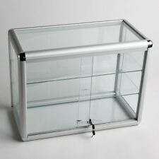 Glass Counter Top Aluminum Frame Locking Jewelry Display Case w/ 3 Shelves ADC-2
