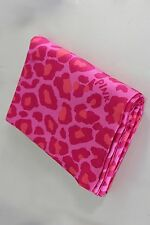 Victorias Secret PINK Leopard Flat Twin Sheet TS Camp Dorm Cutter Campus EUC