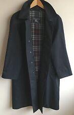 Burberrys of london! homme 42 l! bleu marine classique trench coat imperméable mac!
