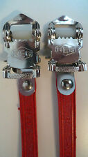 Vintage NOS Classic 80's REG Italian Pedal Straps RED for your Colnago Cinelli