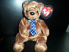 HERO ~ WEARING TIE & COLLAR EXTRA CANADIAN TUSH TAG RARE TY BEANIE BABY