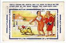 (Lv403-100) Bamforth, Excuse Me Gertie, Dog, Lamp-posts 1935 Used G