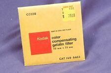 "CC05B blue sealed 75mm Square Kodak Wratten 3"" gelatin filter 149 6462"