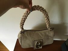 Authentic ESCADA Leather HandBag Purse Handbag With Rope Handle