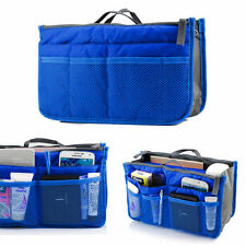 royal blue Makeup Jewelry organizer Sleeve Bag tablet gadget phone trave pockets