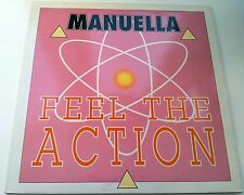 Manuella - Feel The Action 12 Inch Vinyl 1989 Hi Tension Records High Energy NM