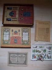 Thüringen Anker-Steinbaukasten Nr.6um1900 New-York mit Bauvorlagen Figuren-Bogen