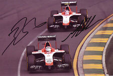 Max Chilton and Jules Bianchi Signed 8X12 inches 2014 Marussia F1 Photo