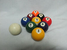 Old Billiard 9 Ball Set Pool Hall Bar Table Beer Alcohol Coin Operated Sport USA
