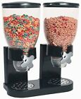 Dual Dry Food Dispenser Kitchen Food Storage Container Cereal Rice Nuts Candy
