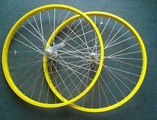 Beach Cruiser Bike 26 x 1.75 Coaster Brake Front & Rear Wheels Rims Yellow