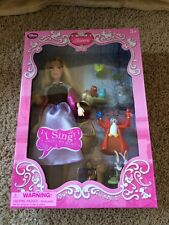 Disney Store DELUXE SINGING AURORA DOLL Sleeping Beauty NIB owl Briar Rose