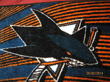 """San Jose Sharks Rug (NEW) Made in EGYPT  Non-Skid  20"""" x 30""""s For ALL Fans"""