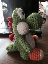 "New Hand Crochet Mario ""Yoshi""  Doll Toy Plush"