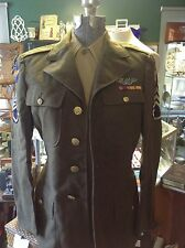 Authentic WWII Army Air Corps Uniform, 2 shirts, 'crusher' cap, small, known