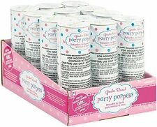 Gender Reveal Party Confetti Poppers - Strong Paper Indoor Outdoor 12 count