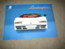 Lamborghini Countach LP 500 Prospekt Brochure Prospetto von 198?, 6 Seiten