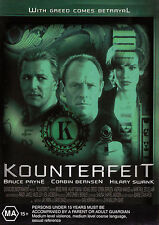 KOUNTERFEIT Bruce Payne / Hilary Swank DVD Region Free - New - PAL