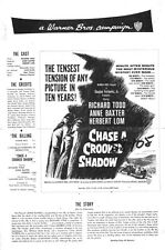 CHASE A CROOKED SHADOW pressbook Anne Baxter, Richard Todd, Herbert Lom