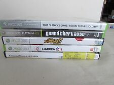xbox 360 games,  lot of 5