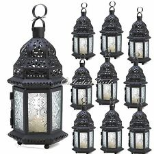 10 Frosted Clear Glass Moroccan Candle Lanterns Party Lights Wedding Centerpiece
