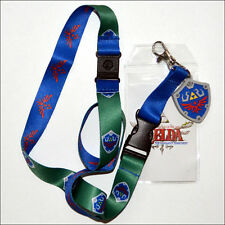 Zelda Skyward Sword Shield & Crest Lanyard Necklace Keychain ID Holder LICENSED