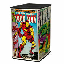 MARVEL COMIC COVERS METAL MONEY TIN PIGGY BANK BOX HULK IRON MAN RETRO CAPTAIN