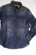 New True Religion Men Blue Denim Jeans  Flannel Thick Shirt Small  S