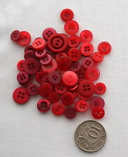 50 NEW SMALL BUTTONS RED MIX Pack - CURRENTLY REDUCED BY 10%