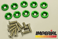 PASSWORD JDM Fender Washers GREEN x10 Honda Civic Integra CRX Type R EG FN2 DC5