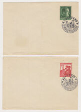 2 - 1939 GERMANY SC# B120 & 137 ON COVERS WITH SPECIAL CANCELS