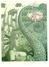 Ex libris Etching Bookmark Jurij Jakovenko