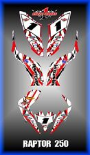 YAMAHA RAPTOR 250 125 SEMI CUSTOM GRAPHICS KIT TRANCE252