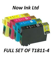 now ink combo 4 x T1811-T1814 XL non-OEM 18 XL Daisy ink cartridges XP-325