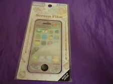 VINTAGE SANRIO JAPAN LITTLE TWIN STARS SCREEN PROTECTOR FILM GLITTER IPHONE 4