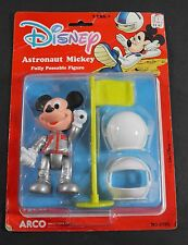 "DISNEY ASTRONAUT MICKEY MOUSE 4.5"" POSEABLE FIGURE ARCO MATTEL NOC"