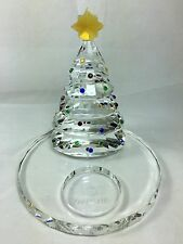 PartyLite Christmas Tree Tealight Holder ~ Sparkle Lite Crystal ~ P9086