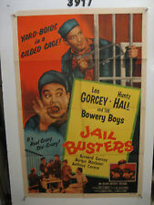 Jail Busters Orig, 1sh Movie Poster '55 Bowery Boys in jail,
