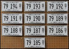 10 ILLINOIS Bright White License Plates Car Tags Arts Hobbies GENERIC BULK LOT