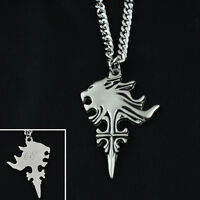 NEW Final Fantasy VIII FF8 Sleeping Lion Head Pendant Metal Necklace Cosplay