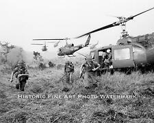 VIETNAM WAR PHOTO US ARMY SPECIAL FORCES INSERTION DAK TO 1965 8x10 #22030