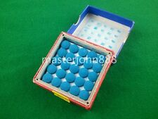 Box of 50pcs Glue-on Pool Billiards Snooker Cue Tips 9mm Free Shipping