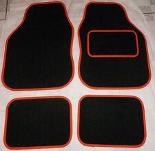 Tappetini Auto Nero e Arancione Trim Tappetini per FIAT Punto Bravo Panda Dobl 500 Grande
