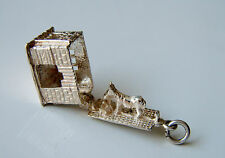 VINTAGE Asino in apertura stabile Solido Sterling Silver Charm