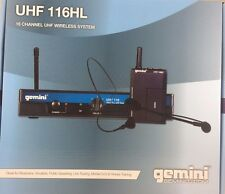 Gemini UHF-116HL 16-Channel Wireless Lavalier Microphone System