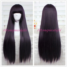 85cm long purple black Shirakiin Ririchiyo/Gokou Ruri straight cos hair wig CC56