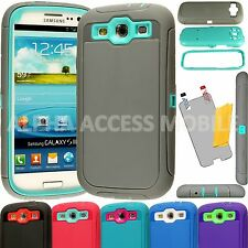 15 Shockproof Hard Cases For Samsung Galaxy S3 Fits Otterbox Defender Belt Clip